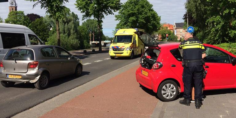 Botsing bij Hereweg Groningen.