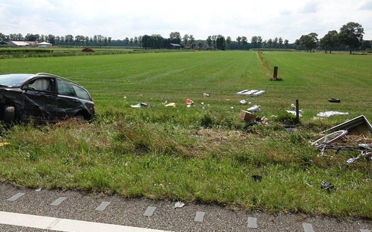 Zwaar ongeval tussen Balkbrug en Ommen, zes gewonden.