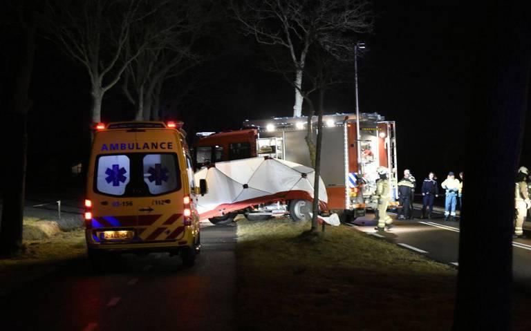 Bestuurder overleden na ongeluk in Wapserveen, Havelte.