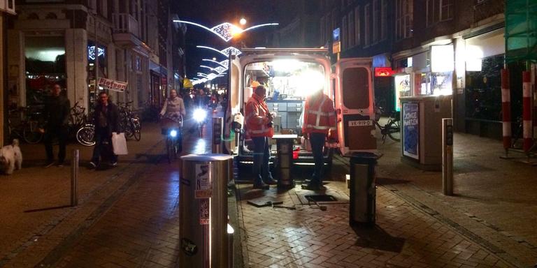 Weer aanrijding met zakpaaltje Steentilstraat Groningen.