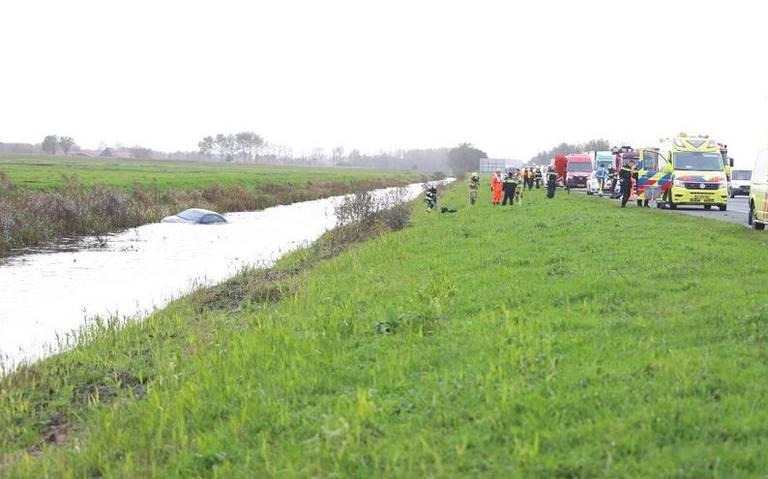 Ongeluk tussen Gorredijk en Beetsterzwaag veroorzaakt file op A7 richting Groningen.