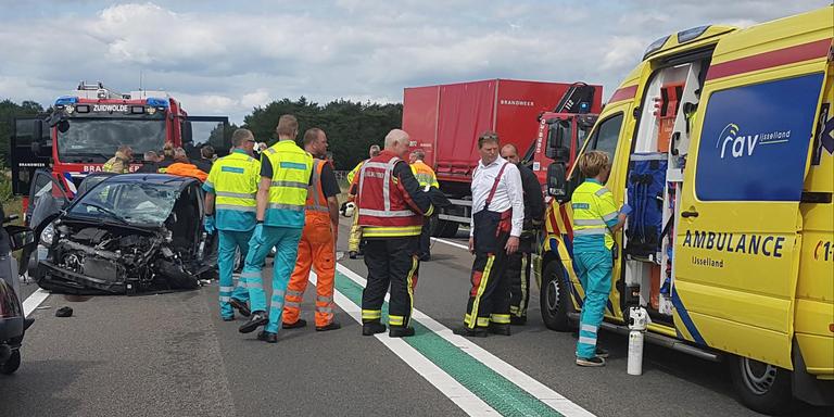 Een gewonde door ongeluk op N48.