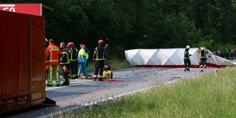 Dodelijk ongeval op de N34 bij Odoorn.