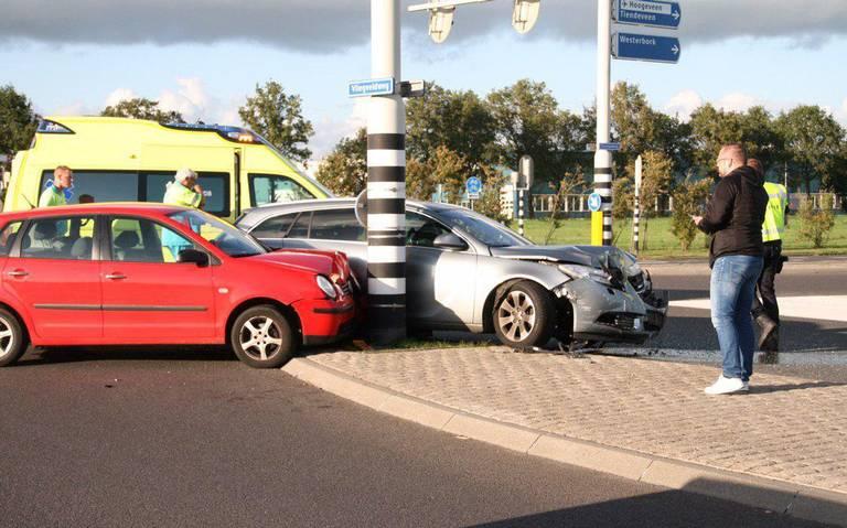 Vrouw gewond bij ongeluk in Hoogeveen.