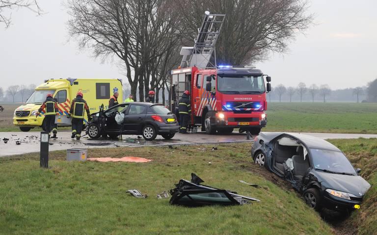 Zwaar ongeluk bij Zuidbroek; traumaheli rukt uit.