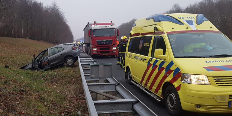 Gewonde bij ongeluk op A28.