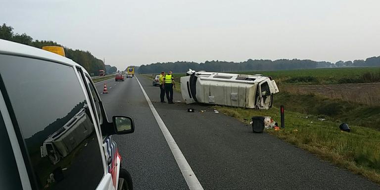 Bestuurder gewond bij ongeluk A28.
