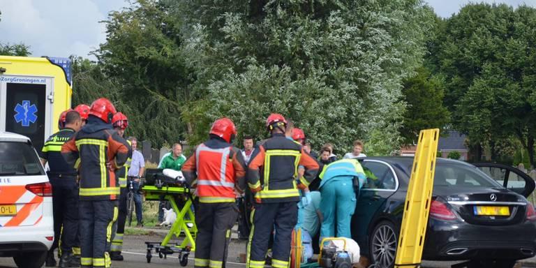 Ongeval tussen twee voertuigen op Hogelandsterweg Farmsum.