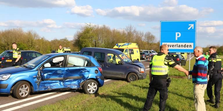 Meerdere gewonden bij ongeval op N34 bij Gieten.