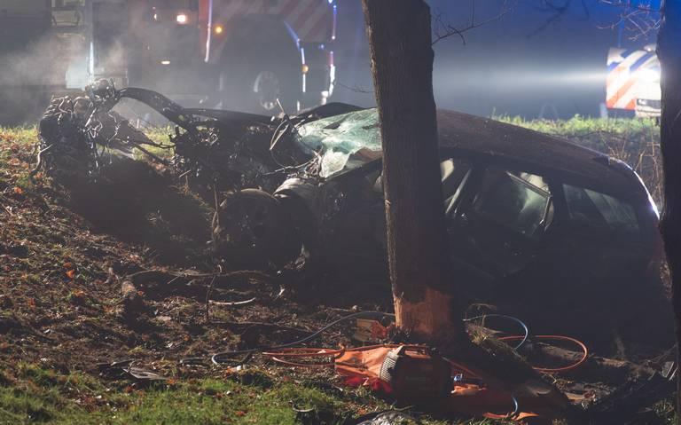 Man gewond bij zwaar ongeval op de A7 tussen Hoogezand en Kolham.
