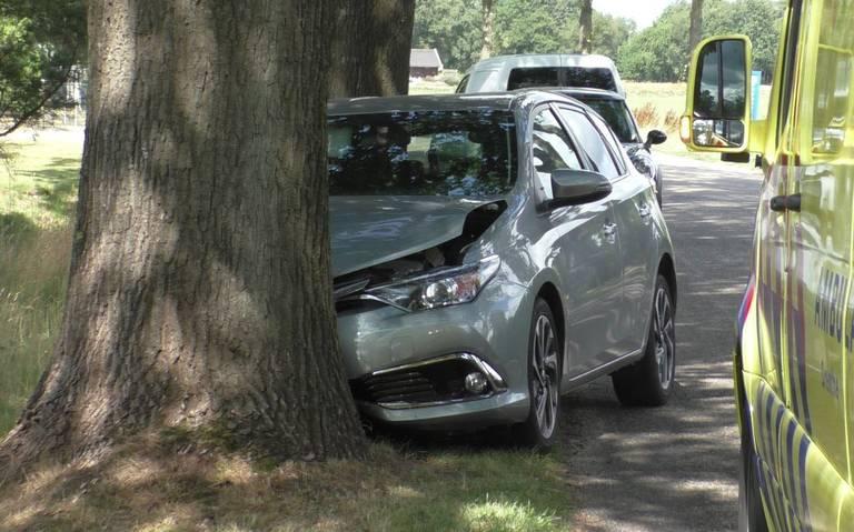 Vrouw raakt lichtgewond bij frontale botsing tegen boom in Smilde.
