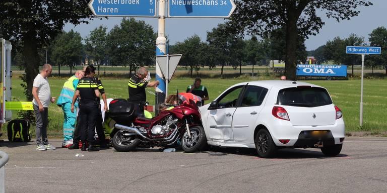 Motorrijder gewond bij botsing Hoogezand.