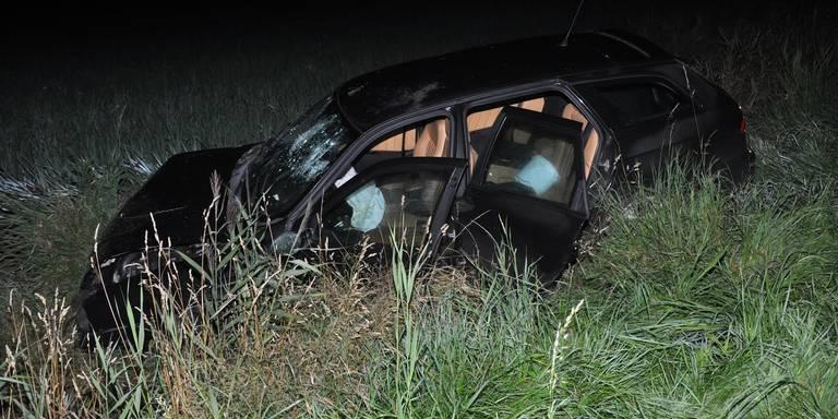 Nachtelijk ongeluk Kommerzijl loopt goed af.