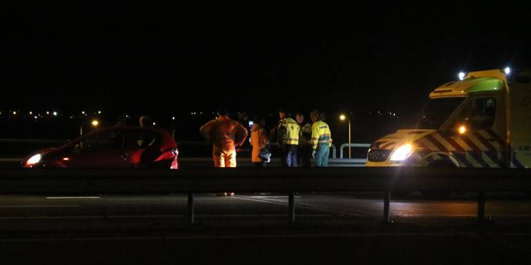 Ongeluk op de N46 in Groningen.