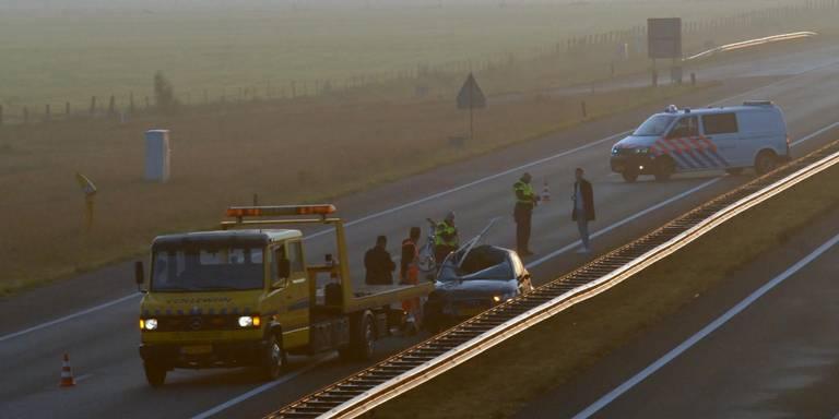 Dronken bestuurder met schrik vrij na ongeluk A7 bij Marum.