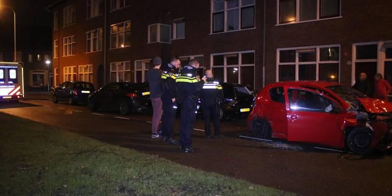 Ravage bij ongeluk Sumatralaan Groningen.
