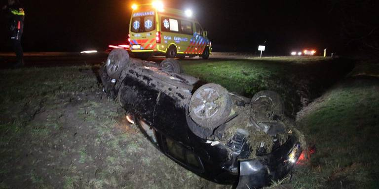 Man gewond na ongeval A28.