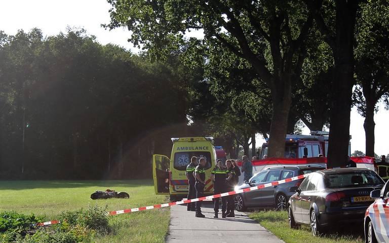 Motorrijder komt om bij ongeluk in Hooghalen.